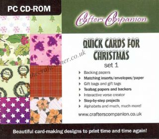 Quick Cards for Christmas CD 1 Craft PC CD-ROM